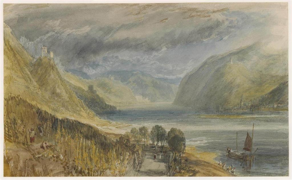 Blick in Richtung Burg Sooneck und Bacharach | © The Trustees of the British Museum